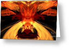 Abstract Five Greeting Card
