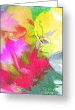 Abstract Garden Impressions Greeting Card