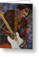 Abstract Jimi Hendrix Greeting Card