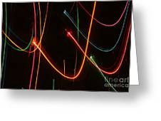 Abstract Motion Lights Greeting Card