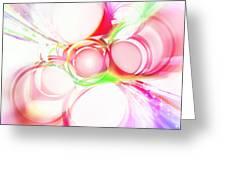 Abstract Of Circle  Greeting Card