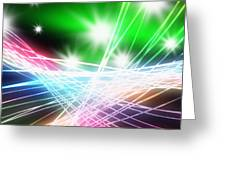 Abstract Of Stage Concert Lighting Greeting Card