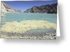 Acidic Crater Lake, Kawah Ijen Volcano Greeting Card