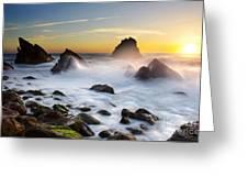 Adraga Beach Greeting Card