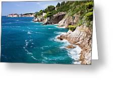 Adriatic Sea Coastline Greeting Card