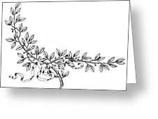 Advertising Art: Wreath Greeting Card