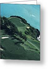 Aerial Of A Golf Course In Bermuda Greeting Card
