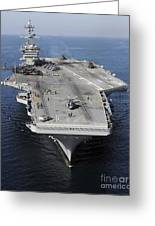 Aircraft Carrier Uss Carl Vinson Greeting Card