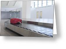 Airport Baggage Claim Greeting Card by Jaak Nilson