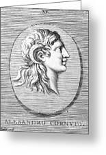 Alexander The Great (356-323 B.c.) Greeting Card by Granger