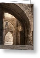 Alley In Jerusalem Greeting Card