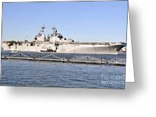 Amphibious Assault Ship Uss Wasp Greeting Card