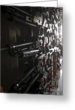 An Armory Of Pk Machine Guns Designed Greeting Card