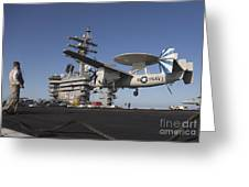 An E-2c Hawkeye Makes An Arrested Greeting Card