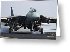 An F-14d Tomcat Makes An Arrested Greeting Card