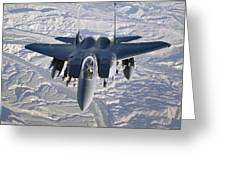 An F-15e Strike Eagle Soars Greeting Card