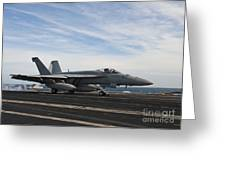 An Fa-18f Super Hornet Takes Greeting Card by Stocktrek Images