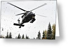 An Hh-60g Pave Hawk Helicopter Prepares Greeting Card