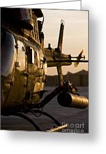 An Oh-58d Kiowa During Sunset Greeting Card