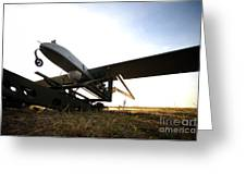An Rq-7b Shadow Unmanned Aerial Vehicle Greeting Card