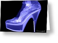 An X-ray Of A Foot In A High Heel Shoe Greeting Card