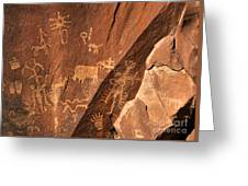 Ancient Indian Petroglyphs Greeting Card