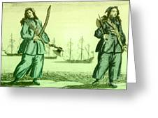 Anne Bonny And Mary Read, 18th Century Greeting Card