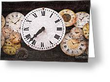 Antique Clocks Greeting Card by Elena Elisseeva