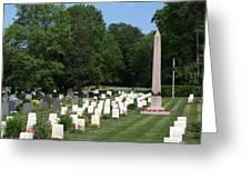 Anzac Cemetery In Harefield Churchyard Greeting Card