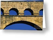 Aqueduc Du Pont Du Gard.provence Greeting Card by Bernard Jaubert