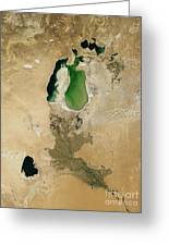 Aral Sea Greeting Card by NASA / Science Source
