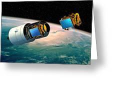 Ariane 5 Payload Deployment, Artwork Greeting Card