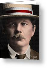 Arthur Conan Doyle, Scottish Author Greeting Card