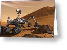 Artist Concept Of Nasas Mars Science Greeting Card
