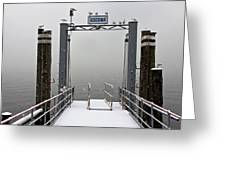 Ascona With Snow Greeting Card