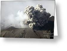 Ash Cloud Following Explosive Vulcanian Greeting Card