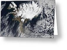 Ash Plume From Eyjafjallajokull Greeting Card