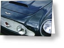 Aston Martin 1963 Aston Martin Db4 Series V Vintage Gt Grille Emblem -0140c Greeting Card