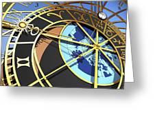 Astronomical Clock, Artwork Greeting Card