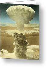 Atomic Bombing Of Nagasaki Greeting Card by Omikron