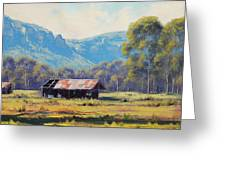 Australian Landscape Lithgow  Greeting Card by Graham Gercken