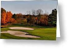 Autumn Golfing  Greeting Card