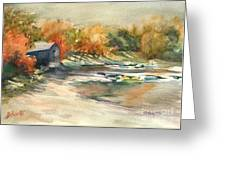 Autumn Morning At The Cove Greeting Card