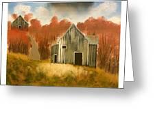 Autumn Rustic Barns Greeting Card