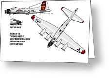 B17 Airplane Greeting Card