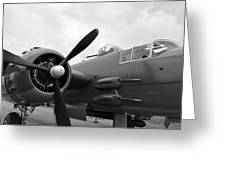 B25 Bomber Greeting Card