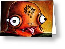Bad Boy Glob Greeting Card by Leanne Wilkes