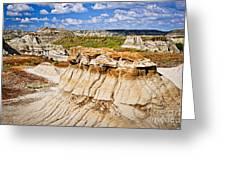 Badlands In Alberta Greeting Card