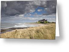 Bamburgh Castle Northumberland, England Greeting Card by John Short