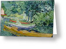 Bank Of The Oise At Auvers Greeting Card